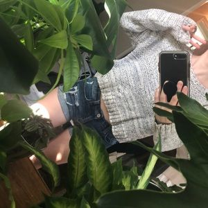 Heavy crop sweater